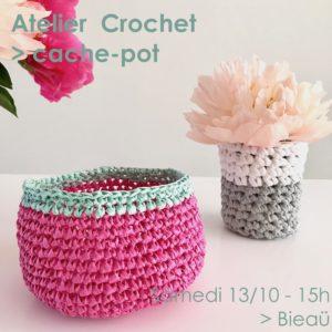 Atelier Crochet / Cache-pot @ Bieaü