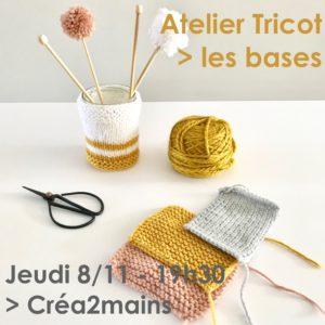Atelier Tricot - Séance 1/3 @ Créa2mains