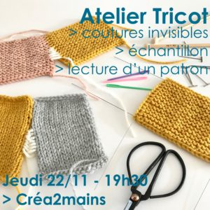 Atelier Tricot - Séance 3/3 @ Créa2mains
